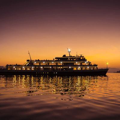 Deutschland Bodensee Flotte by night
