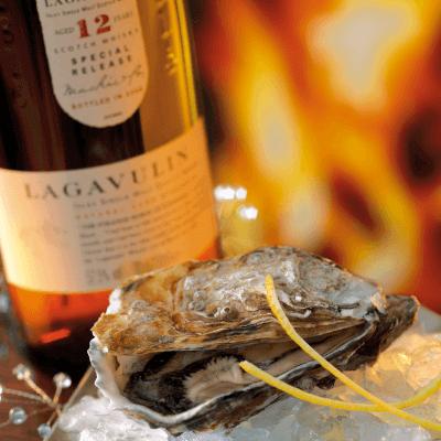 Lagavulin Whisky mit Auster